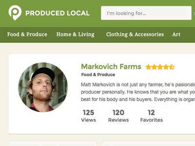 Produced Local Profile produce local profile badge card directory