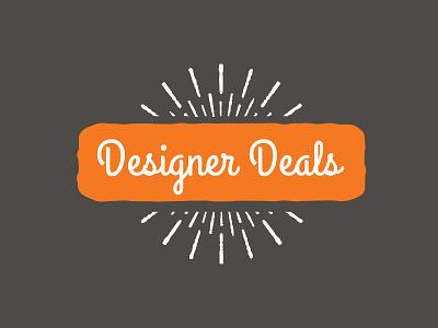 Designer Deals Logo signage orange script vintage logo designer deals