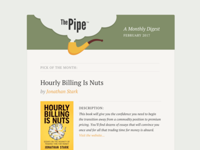 The Pipe Digest Email pipes books template email