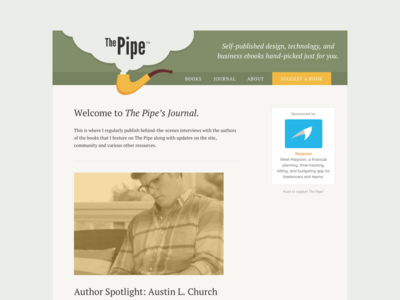 The Pipe Journal journal e-books pipe self-published books design blog