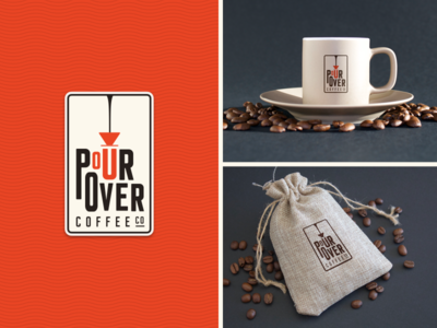 Pour Over brand logo design challenge pour over coffee