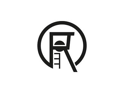 Mining Tower brand symbol silhouette tower brandmark logo