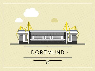 Stadium dortmund borussia bvb illustration vector football