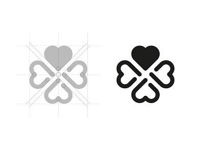Symbol design love heart quarter district city logo brandmark brand symbol