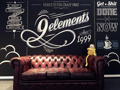Chalkboard 9elements typography lettering illustration tafel kreide mural chalkboard chalk