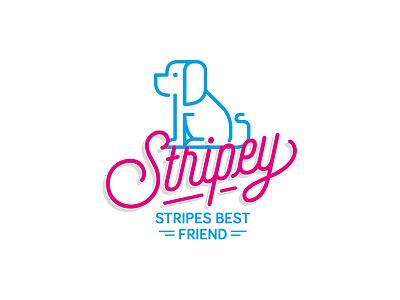 Stripey typography symbol illustration dog