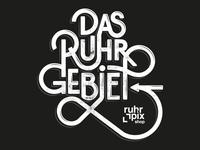 Das Ruhrgebiet Typo