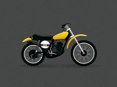 Suzuki 100 cover motorbike vector illustration