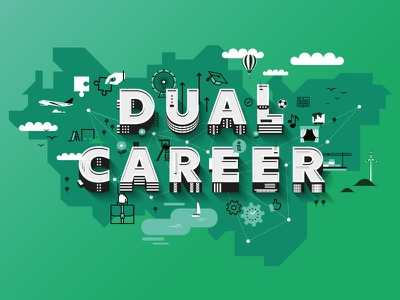 DCNRuhr Keyvisual ruhrgebiet landscape network career dual map letters keyvisual illustration