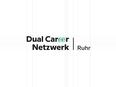 DCNRuhr Logo identity ruhr network career dual brandmark logo
