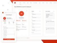 The CRM system for the consulting company