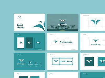 Brand Identity - Airlinesto illustration logo graphic design branding brand identity brand guidelines