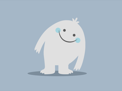 Remy the Yeti from Sago Mini apple pencil ipad illustrator sago mini yeti