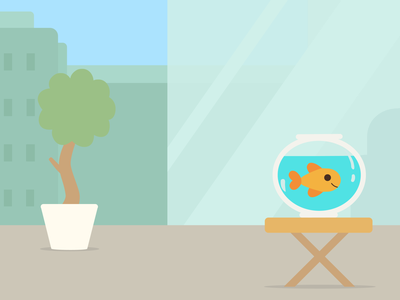 Patio Fish patio fish bowl goldfish illustrator ipad