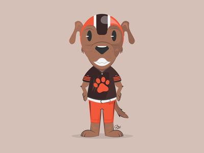 Chomps, Cleveland Browns Mascot cleveland browns nfl cleveland browns illustration