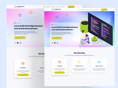 CodersHero got redesign!!! typography minimal icon vector illustration logo design graphic design branding ux web development web design ui