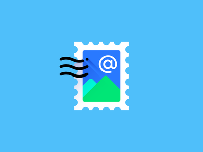 Mail material style icon flat flat design long shadow icons adobe illustrator illustration material design icon