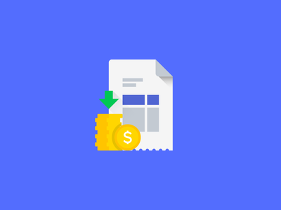 Collection and Invoice material style icon