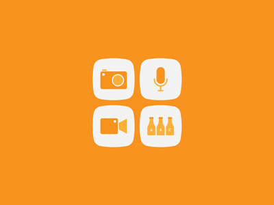 Media and Catalog material style icon material design flat android icons icon bottle catalog audio mic video camera image