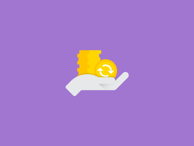 Credits and Consignments material style icon flat hand money coin material design icons icon mobile app android