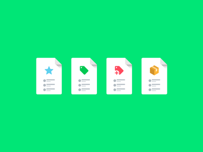 Documents and reports material style icons