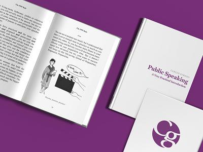 CG Public Speaking minimalistic icon purple illustrator indesign vector book branding design logo