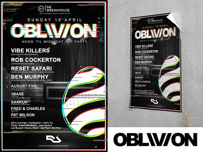 OBLIVION Poster Design #1 branding photoshop print illustrator events advertising poster logo graphic design