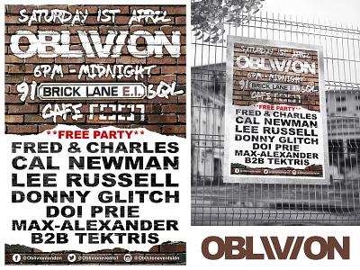 OBLIVION Poster Design #2 mockup print advertising poster photoshop graphic design logo branding