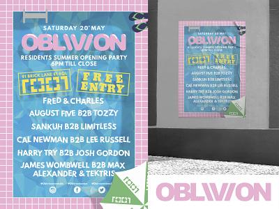 OBLIVION Poster Design #3 print graphic design logo advertising graphic design illustrator vector poster branding