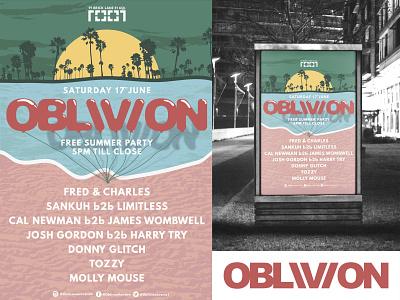 OBLIVION Poster Design #4 print poster illustration graphic design graphic advertising vector design logo branding