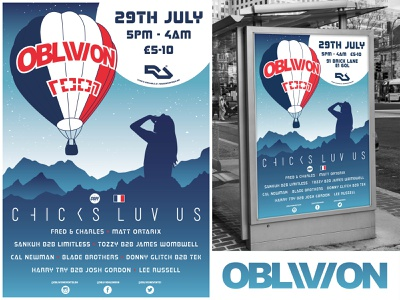 OBLIVION Poster Design #5 print poster illustration graphic design graphic advertising vector design logo branding
