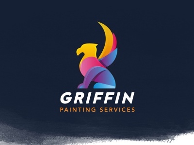Griffin Painting Services Branding advertising illustrator painting graphic vector branding design logo