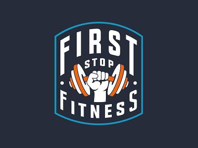 First Stop Fitness Branding illustration graphic design graphic vector advertising logo design branding
