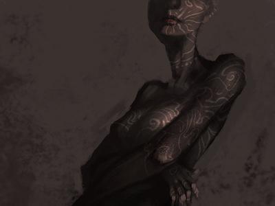 Tattoo Lady Sketch