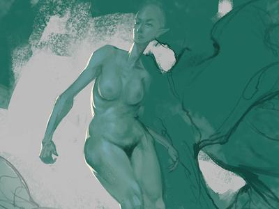 Naked elf chick