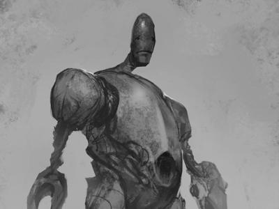 Skinny Sad Robot Sketch