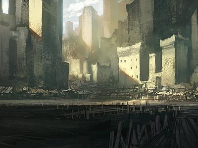 Shakar Docks illustration concept art