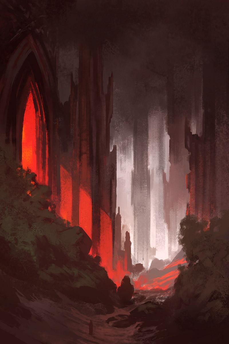 Noah bradley gothic sketch