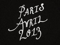 Paris Avril 2013