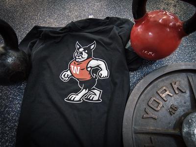 Wareing's Gym Boston Terrier Athletic Mascot