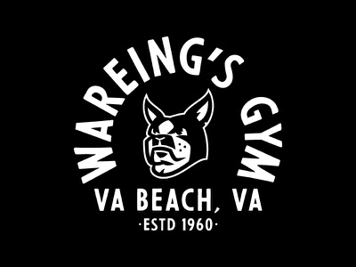 Wareing's Gym Boston Terrier Type mascot dog type boston terrier