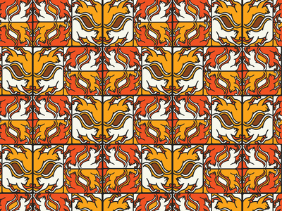 Isolated cats patterns
