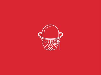 Citizen gentleman pet bulldog mascotlogo mascot animal dog vector texas logotype brand icon branding logo illustration