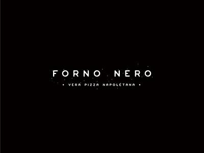 Forno Nero identity icon illustration logo tradition alchemy black oven forno pizza hospitality brand branding