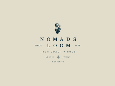 Nomads Loom_Work for White Unicorn Agency branding brand logotype lockup loom nomads