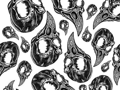 Skulls pattern hand draw procreate ipadpro pattern skull