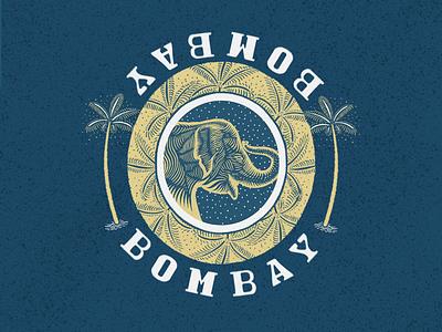 Bombay lynocut handmade sketchbook procreate ipad pro bombay elephant pattern made by hand logotype logo