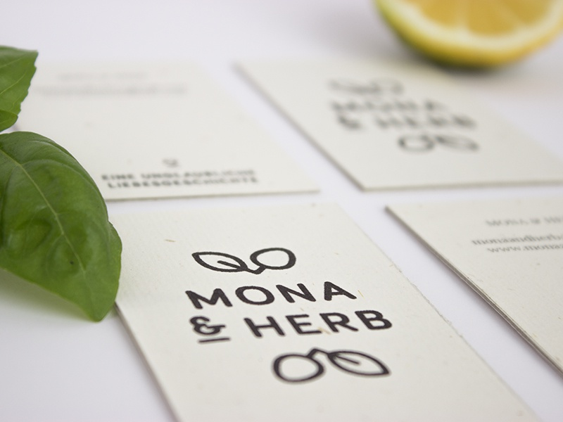 MONA & HERB - The full project herbs drink fresh fruits concept corporate design monaandherb