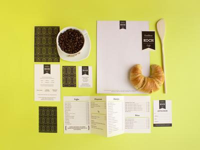 Koch Branding graphic design food coffee café branding