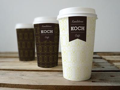 "Café Koch | Branding coffee cups designcoffee ""graphic food café branding"